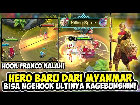 HERO BARU DARI MYANMAR MINSITTHAR HOOKNYA NGALAHIN FRANCO - MOBILE LEGENDS INDONESIA