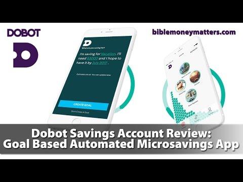 Make Dobot Savings Account Review: Goal Based Automated Microsavings App Snapshots