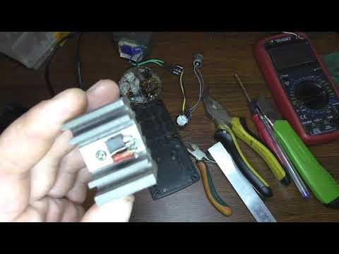 Маломощный блок питания для автомагнитолы из зарядки шуруповерта