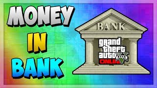 GTA 5 ONLINE HOW TO PUT MONEY IN THE BANK ! (TUTORIAL)