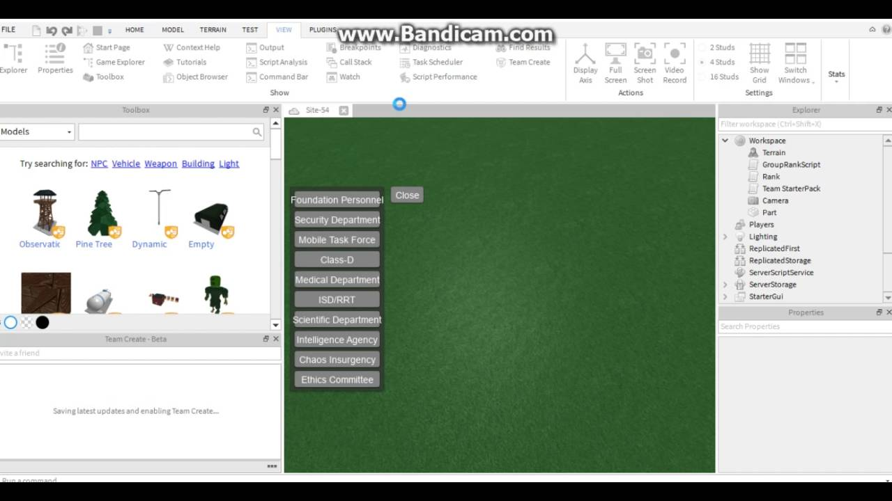 Roblox How To Turn On Team Create Youtube