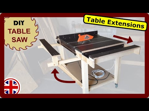 Table saw: DIY table extensions - 2 variants to build yourself