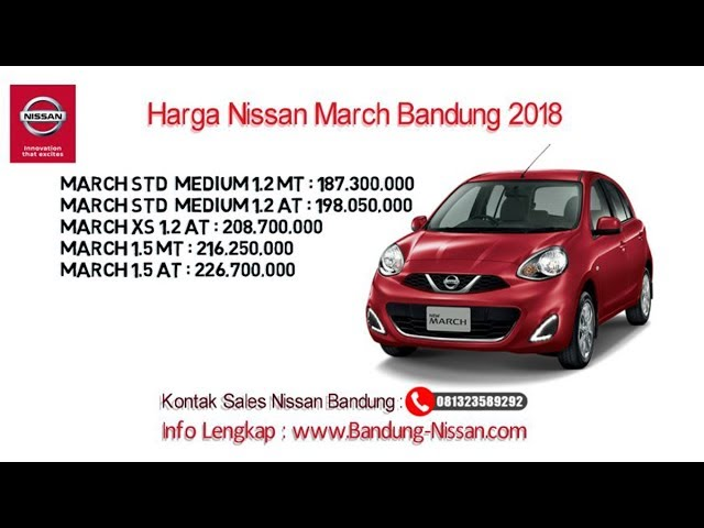 Harga Nissan March - Dealer Nissan Bandung | 081323589292