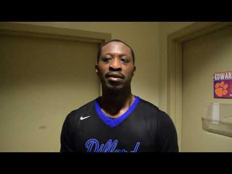 Feb. 24, 2018: (RV) Dillard 76, Edward Waters College 50 - Senior forward Joshua Simmons Postgame
