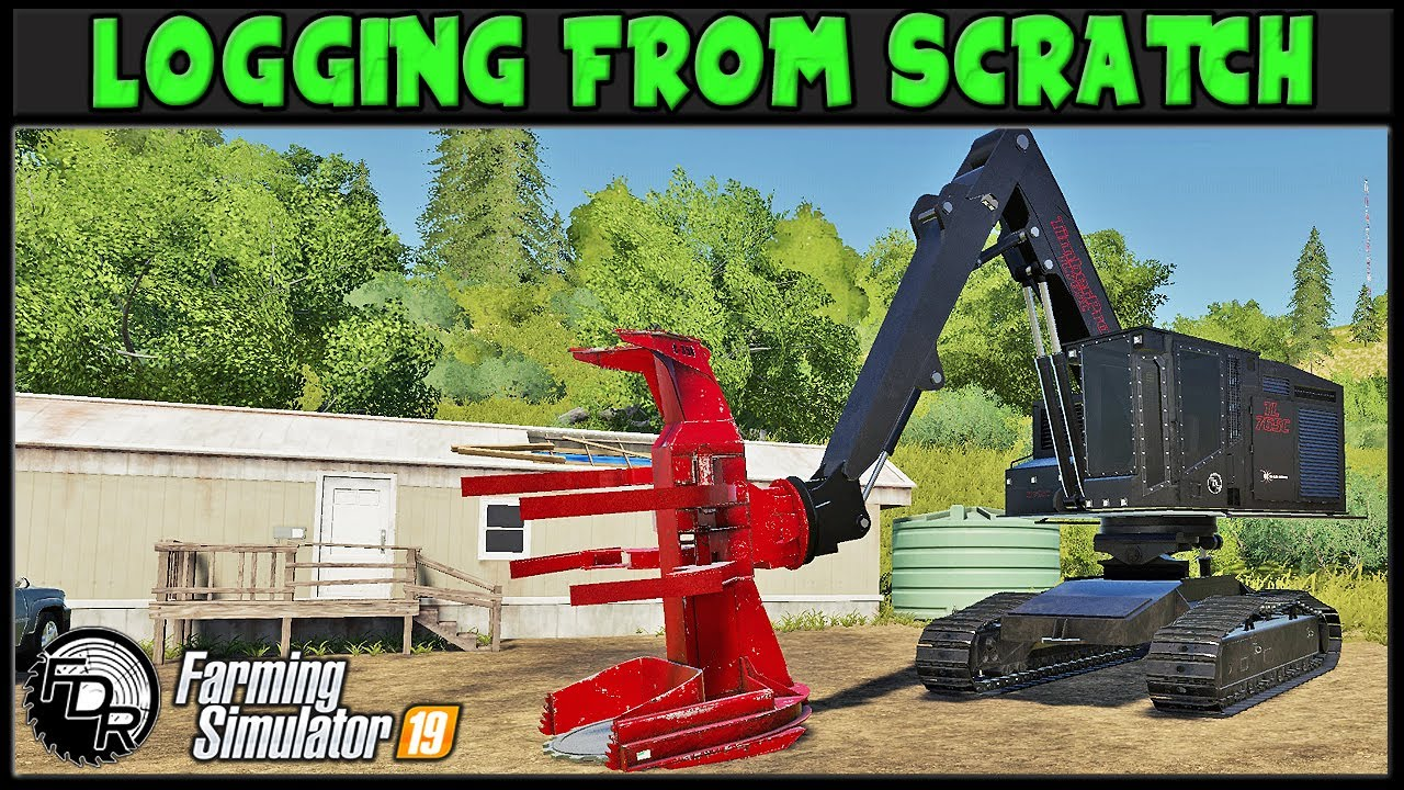 Download Bunching The Ugly Trees - Logging From Scratch 233 - Farming Simulator 2019 - FDR Logging