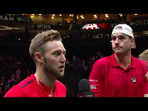 Jack Sock/John Isner on court interview (Match 9) | Laver Cup 2017
