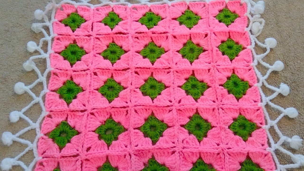 Download Crochet Table cover, Woolen table cloth, crosia table cover ke design,#362 ,by  Santosh All Art  