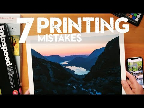 7 PHOTO PRINTING MISTAKES To AVOID (with Examples)