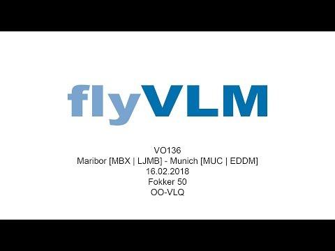 [FULL FLIGHT] VLM Fokker 50 From Maribor To Munich | VO136 | OO-VLQ