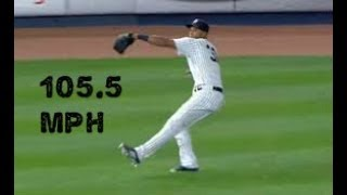 MLB 95+ MPH Outfield Throws (Statcast Verified)