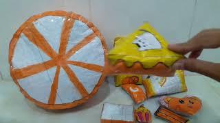 Giới thiệu bộ sưu tập squishy giấy màu cam của mình