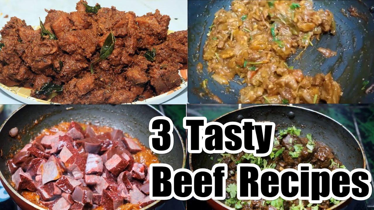 3 Type Tasty Beef recipes | Beef varuval | beef gravy | beef Eeral varuval | suvarotti varuval |beef