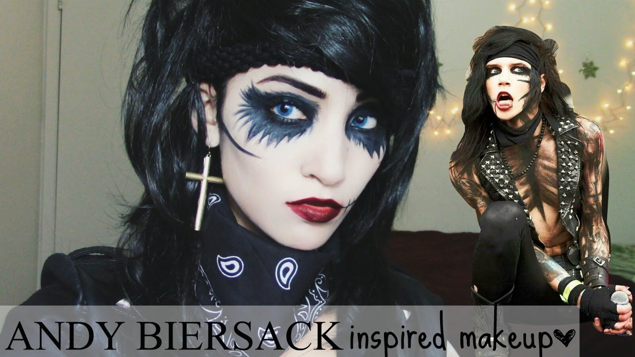 Andy Biersack Inspired Makeup | Black Veil Brides - YouTube