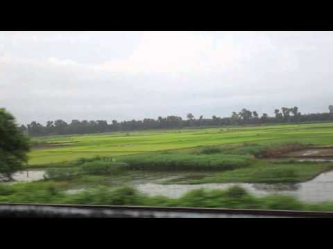 22836 Puri-Shalimar SUF Exp through the plains of Bengal during monsoon part 4