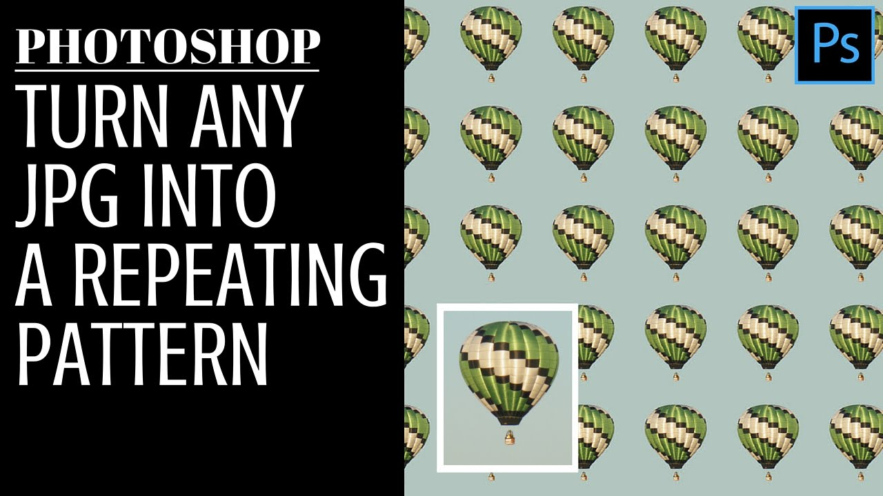 turn any jpg into a repeating pattern in photoshop jpeg to pattern