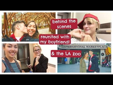 BACK IN LA!!!, seeing Jacob for the first time, LA zoo, & behind the scenes | Weekly College Vlog