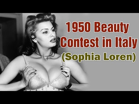 Sophia Loren - Beauty Contest in Italy 1950