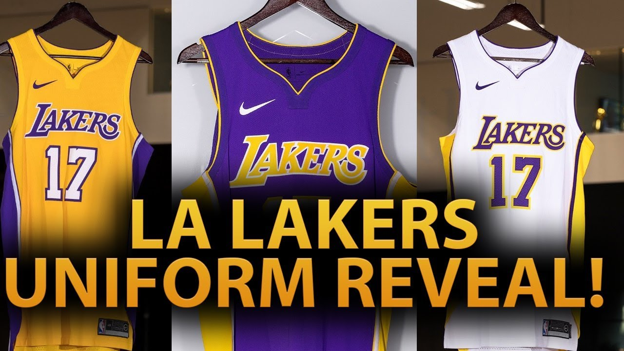 LOS ANGELES LAKERS NEW UNIFORMS REVEALED! - YouTube c23fef09a