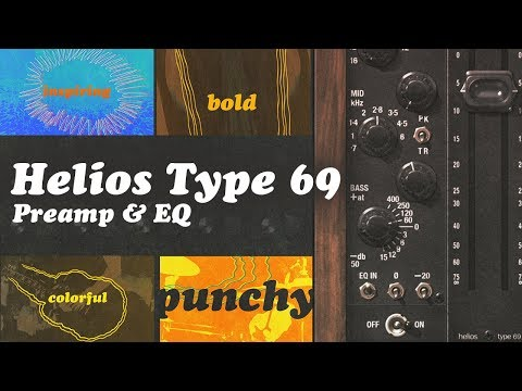 UAD Helios Type 69 Preamp & EQ Collection Plug-In