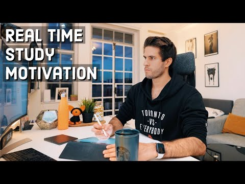REAL TIME study with me (no music): 4 HOUR Productive Pomodoro Session | KharmaMedic