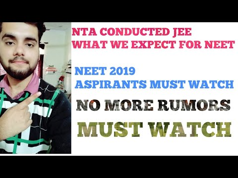 NTA CONDUCTED JEE!WHAT WE EXPECT FOR NEET???