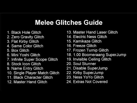2018 Melee Glitches Guide