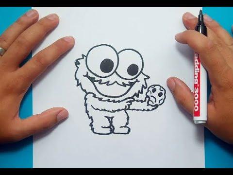 Como dibujar al Monstruo de las galletas paso a paso 3 - Barrios ...