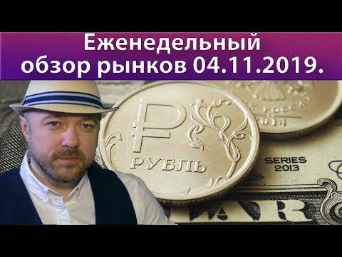 Обзор рынков ноябрь 2019. Прогноз РТС, курс доллара рубля валюта нефть, DAX, SP500.