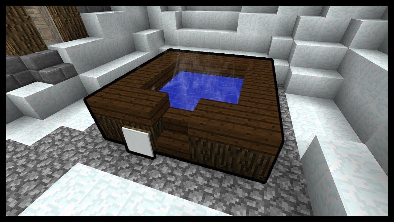 Minecraft come fare una vasca idromassaggio youtube for Come costruire una vasca incassata