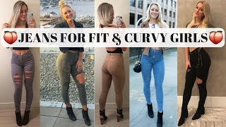 The Best Jeans For Athletic & Curvy Girls