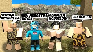 1, WITH CAVEMEN. DAY STAYED IN THE CAVE / Roblox Roleplay / Roblox English