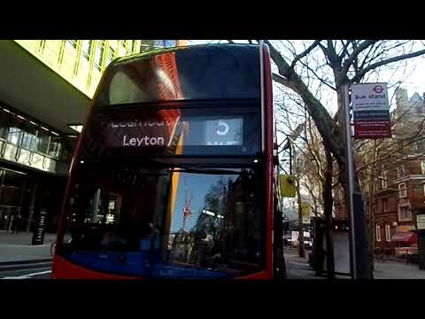 E400H Euro 6 Stagecoach London 12331 SL14LNX Route 8 with Blinds Change at Tottenham Court Road