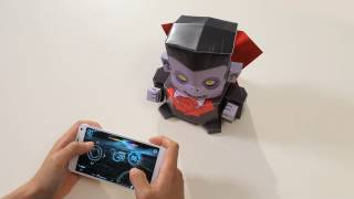 Kamibot: Papercraft Count Dracula controlled from your smartphone