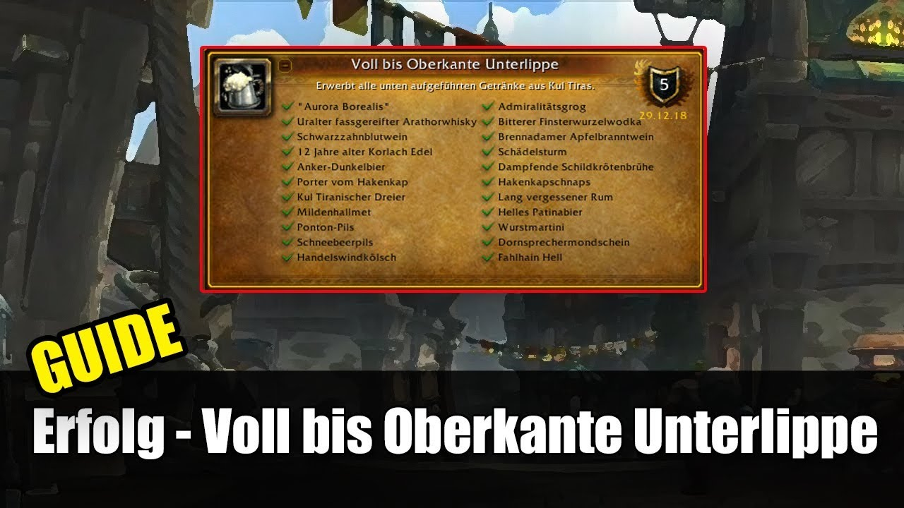 Guide Voll Bis Oberkante Unterlippe World Of Warcraft Battle