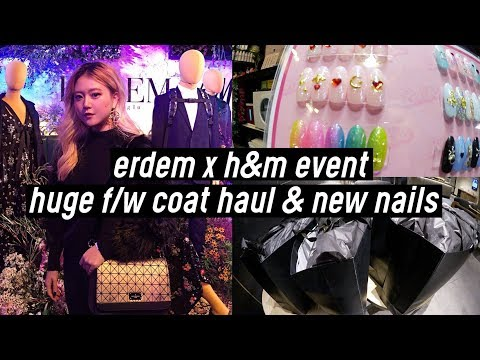 Erdem X H&M Event, Huge f/w Coat Haul, New Spider Nails in Korea | DTV #55