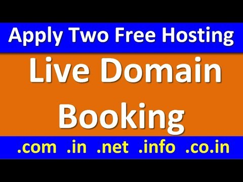 Live domain booking and Apply for Free Website Hosting -WebPart-2
