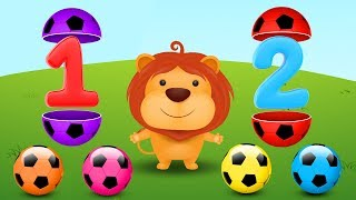 Learn Numbers with Surprise Soccer Balls - Learning Videos