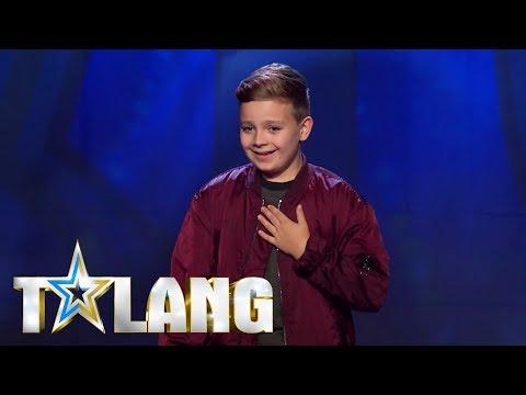 Gustav Wigelius krossar med Ariana Grande-cover i Talang 2018 - Talang (TV4)