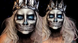 Skull Halloween Makeup Tutorial (Lich King) | Jordan Hanz | World of Warcraft
