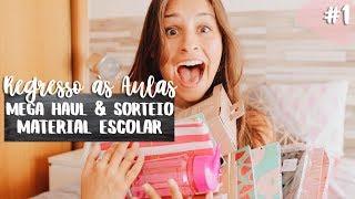 MEGA HAUL + SORTEIO DE MATERIAL ESCOLAR | #1 Regresso às Aulas 2017 | Adri da Silva