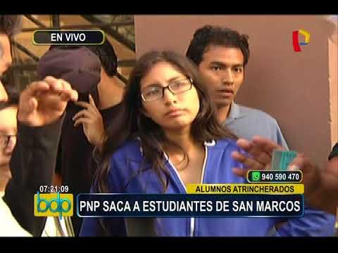 PNP recupera control de Universidad San Marcos y detiene a alumnos preventivamente (1/2)