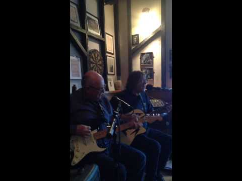 Tweke Lewis guitar Dai Rees vocals Steve Jones harmonica live first gig together @ Browns Laugharne