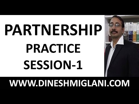 Shortcuts of Partnership Practice Session : 1 by Dinesh Miglani