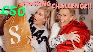 £50 CHRISTMAS STOCKING FILLER CHALLENGE!! w/My Mum