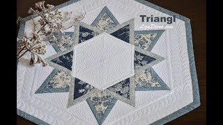 Patchwork tutorial Triangulo