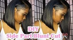 DIY: Side Part Blunt Cut step by step
