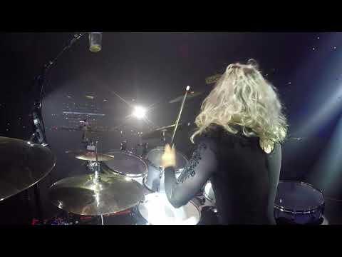 Shania Twain Drum Solo  Elijah Wood Drum Cam  Barretos, Brazil 2018