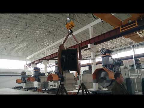 Aicrane Двухбалочный электрический мостовой кран 20Т в цехе завода Узбекитан