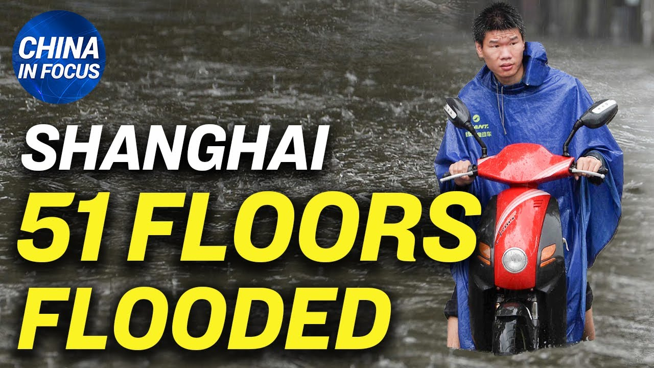 China's tallest building flooded from 60th to 9th floor; Dam makes flood power 25x stronger