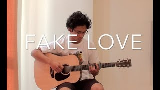 Gambar cover BTS (방탄소년단) - Fake love- [FREE TABS] Fingerstyle Guitar Cover